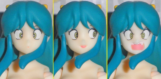 Head Sculpt with 3 faceplates on it