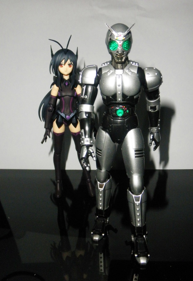 "ShadowMoon: ""You see... My heart belongs to someone else, & mark my words, Black... You will always be my archenemy, because you are a worthy Black that I've ever met.. Like my previous battle with Black Sun & Black RX...."" Kuroyukihime: ""Why are you calling me Black? I'm not in my Black Lotus mode you know..."" ShadowMoon: ""Yeah, right... Forget it."""