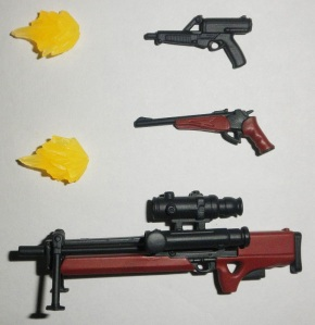 Calico M950, Thompson Contender, Walther WA2000, & 2 FX