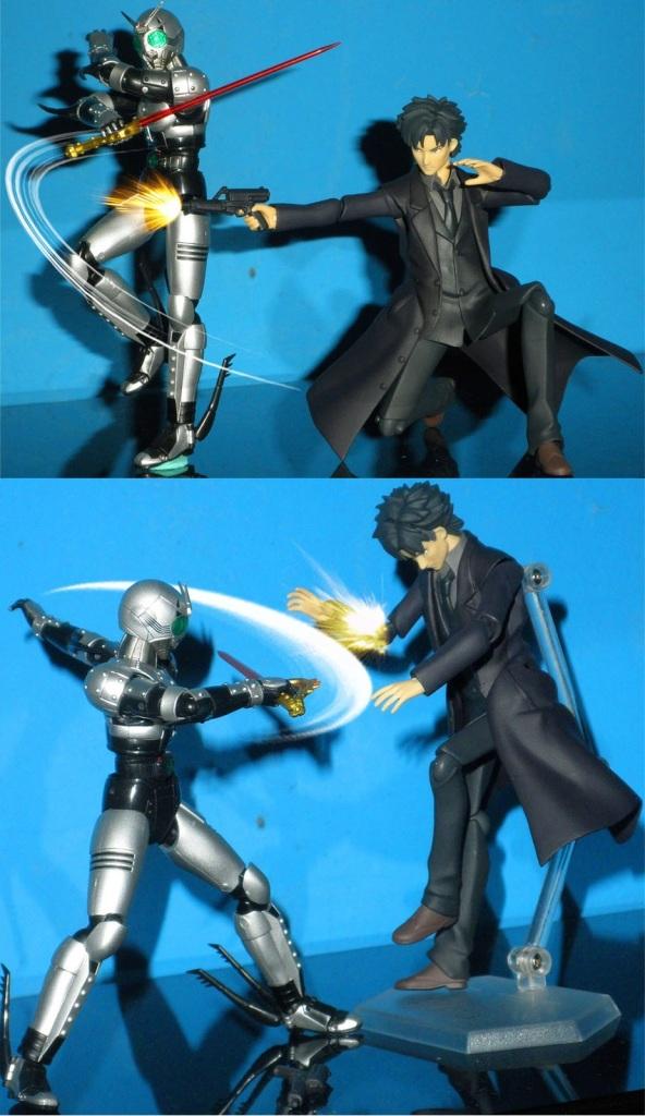 """Kiritsugu: """"Take this!!"""" ShadowMoon: """"Taste it!!"""""""