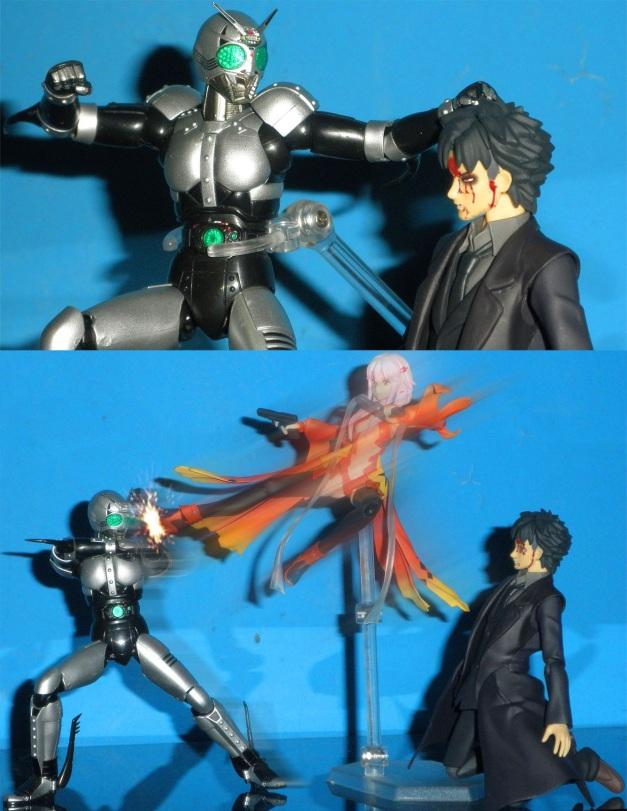 """ShadowMoon: """"Pathetic!! Now, feel my... WHAT?!"""" Kiritsugu: """"?!"""""""