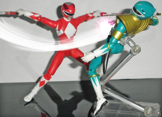 """Red Ranger: """"ASSHOLE!!"""" Dragon Ranger: """"ARRGGHHH...."""""""