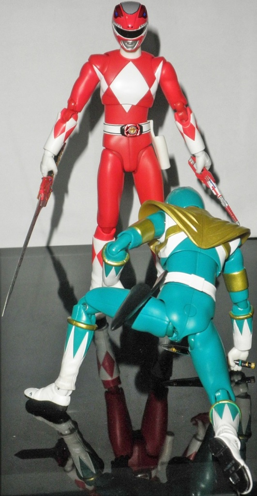 "Dragon Ranger: ""I... Is this how you speak in front of the kids who thinks you're hero? You're not my brother anymore!!"" Red Ranger: ""Weakling Shits! You think kids around the world would love us as a Sentai?"""