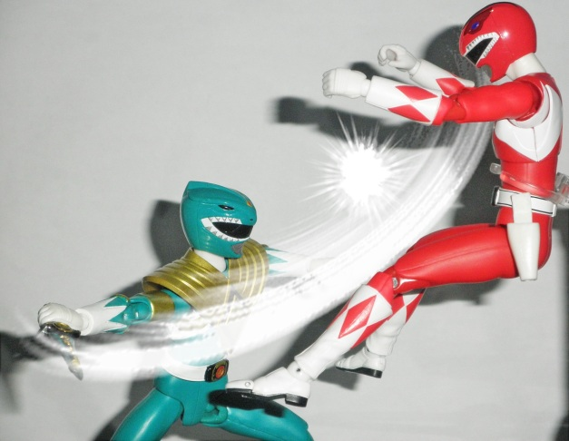 "Dragon Ranger: ""SHUT UP!! Watch your tongue!!"" Red Ranger: ""EAAHHH...."""