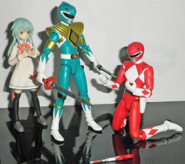 "Tyranno Ranger: ""Ore wa..."" Nozomi: ""Geki-san!! You're back!!"""