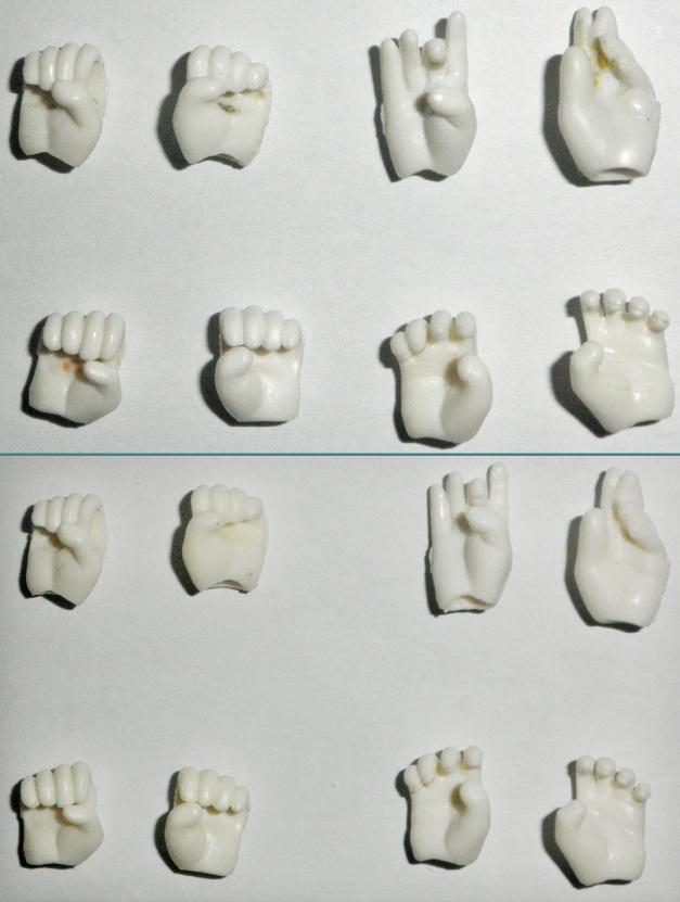 Hand Parts Comparison