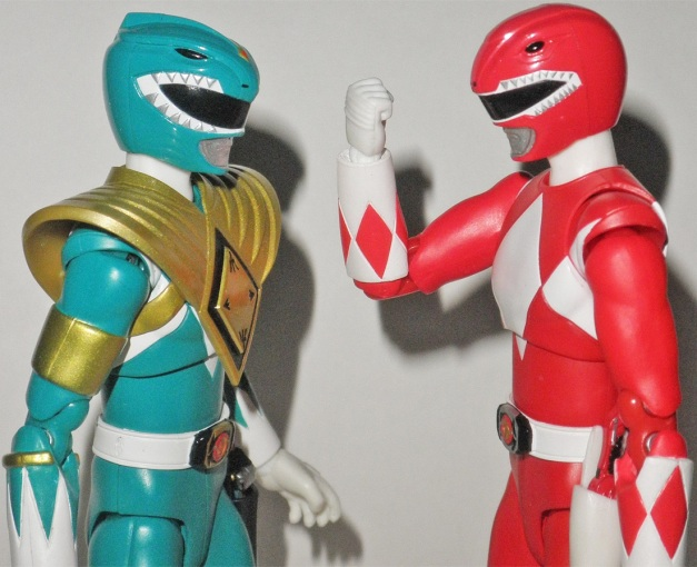 "Tyranno Ranger: ""Can't be help, we must cure him!"" Dragon Ranger: ""Yeah!"""