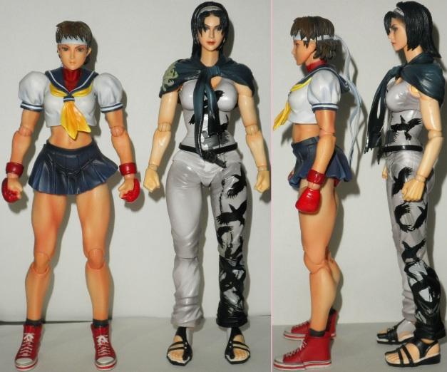 Height comparison between Jun Kazama