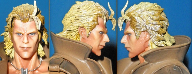Head Sculpt, front & both side view