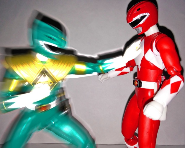 "Dragon Ranger: ""Good, brother! I don't want to see you crying afterall because you wet my costume! Now, make me PROUD!!"""