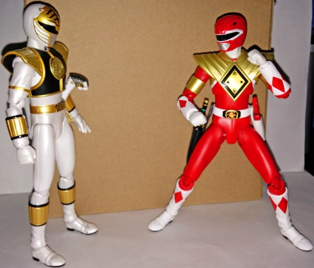 "Armed Tyranno Ranger: ""Your opponent is me, lost soul! We belongs to Super Sentai!"" A-Kibaranger: ""Hahaha, it's just Jason, huh?"""