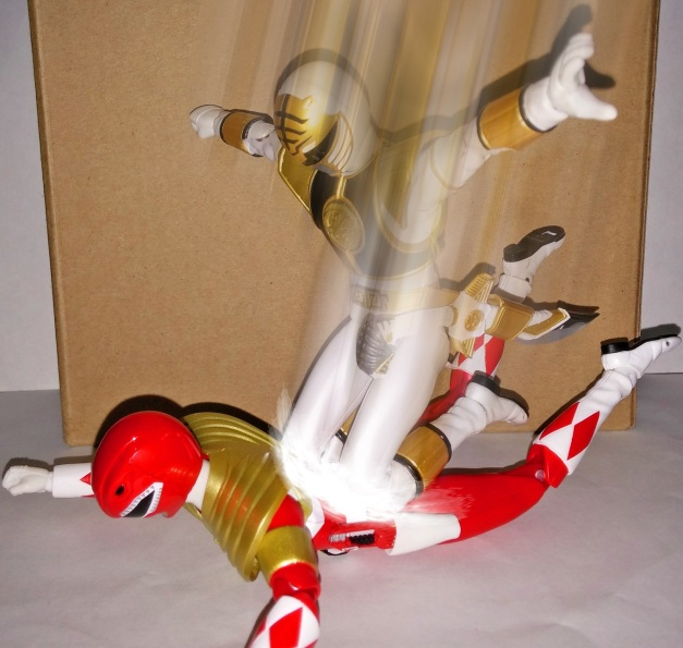 """A-Kibaranger: """"Falcon Drop!!"""" Armed Tyranno Ranger: """"GAHAAAAAKHH...."""""""