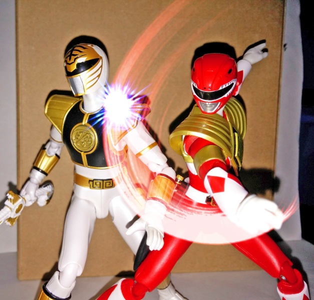 "Armed Tyranno Ranger: ""My leadership began to fade away!! I will never forgive you!!"" A-Kibaranger: ""UGHH..."""