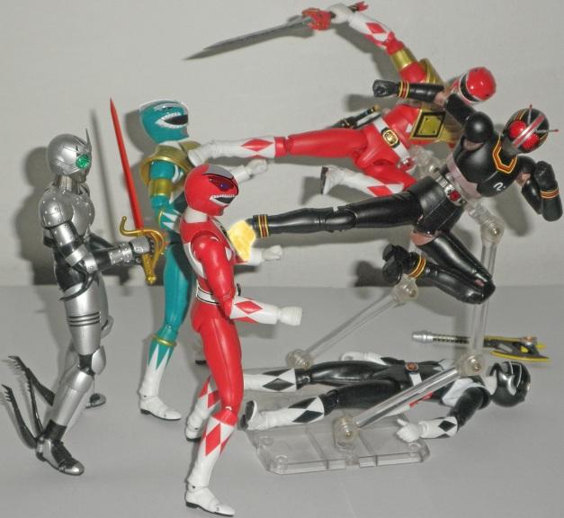 """ShadowMoon: """"WHAT?!"""" Red & Green Ranger: """"GHEAAKH...."""""""