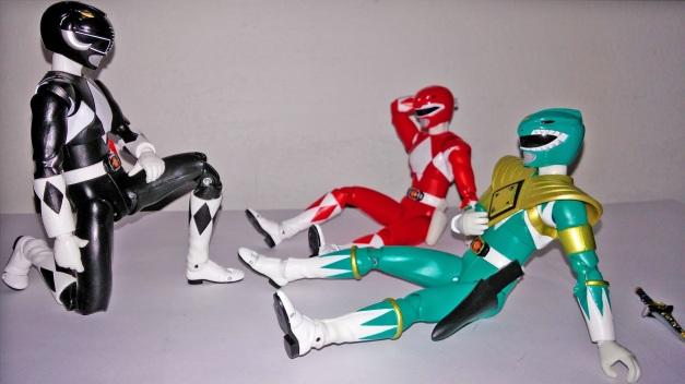 "Tyranno Ranger: ""Ugh... My head hurt..."" Dragon Ranger: ""Goushi?!"" Mammoth Ranger: ""So good to see you again, fellow Zyurangers."""