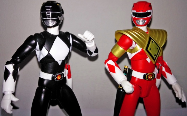 """Mammoth Ranger: """"WAIT?! We don't have time for show-off!!"""" Armed Tyragon Ranger: """"Damn!! Yeah, we need to help BLACK!!"""""""