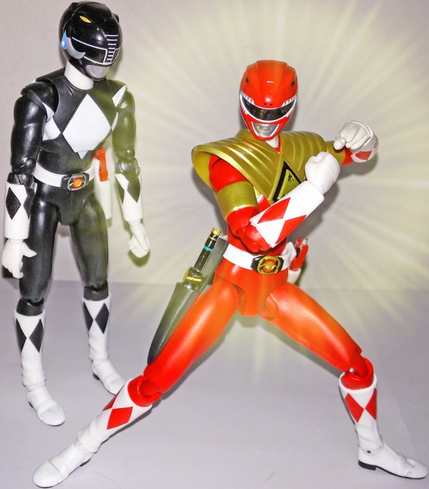 """Armed Tyragon Ranger: """"Armed Tyragon Ranger!! GeBurai!!"""" Mammoth Ranger: """"What the... But, you just showed me before...."""""""