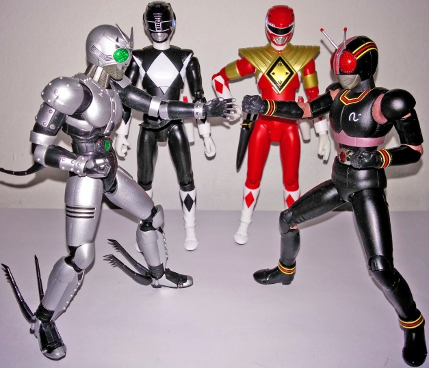 """BLACK Knight Steel & ShadowMoon: """"Rock Paper Scissor!!"""" Mammoth Ranger: """"What the hell are you doing, guys?"""" Armed Tyragon Ranger: """"We just had an intense fight scene but, you guys just doing a child's play...."""""""