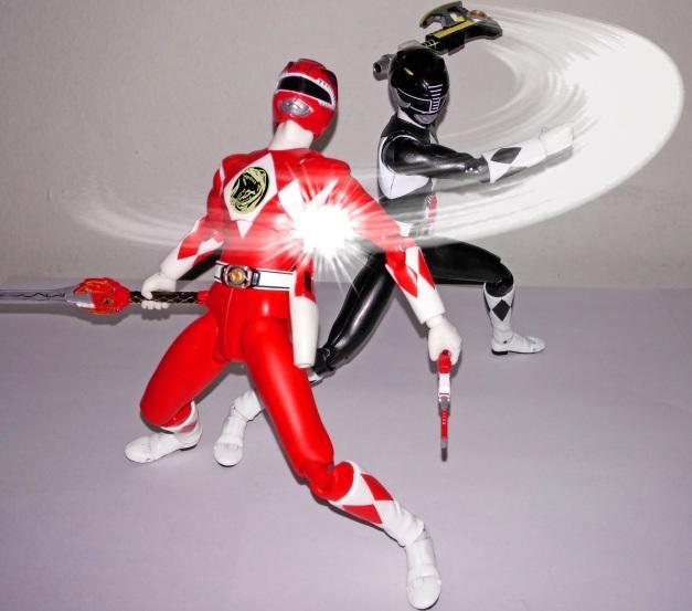 """Mammoth Ranger: """"Sorry, Geki!! MOTHBREAKER!!"""" Red Ranger: """"GHAAAKHH...."""""""