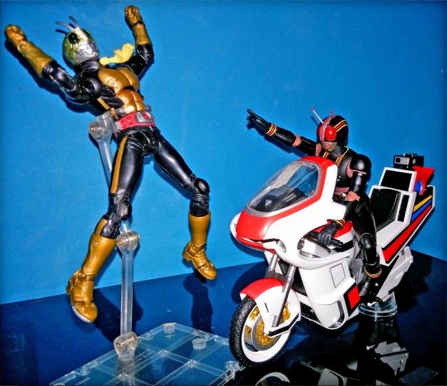"Shocker Rider: ""UGH..."" BLACK: ""NOW!!"""