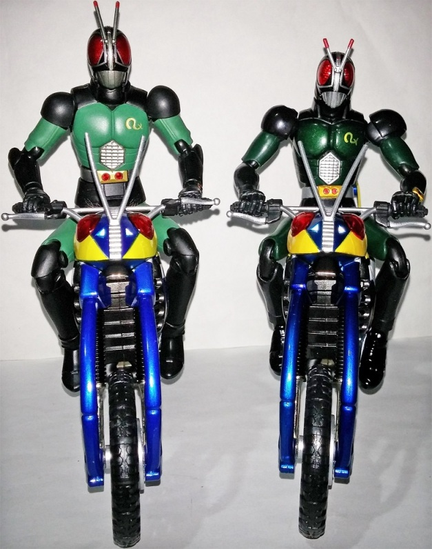 With their respective Riders