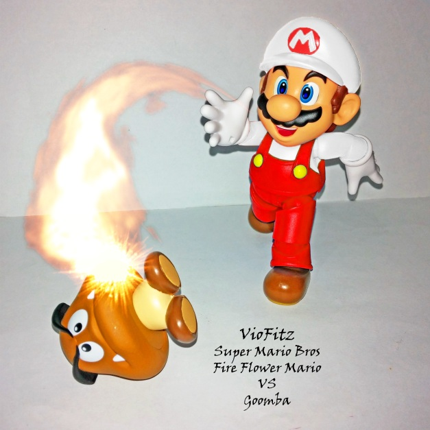Fire Flower Mario in action!