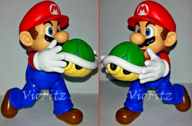 Mario carrying Turtle Shell