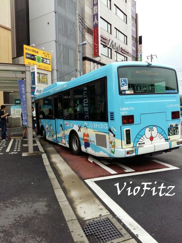 Fujiko F. Fujio Bus in Noborito to the Museum