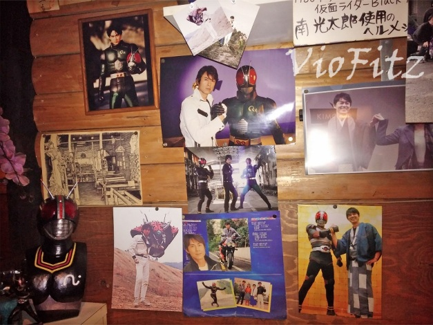 Photos of Tetsuo Kurata with his Kamen Rider counterpart!