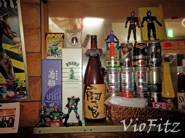 Some displayed BLACK & BLACK RX merchandise near the kitchen