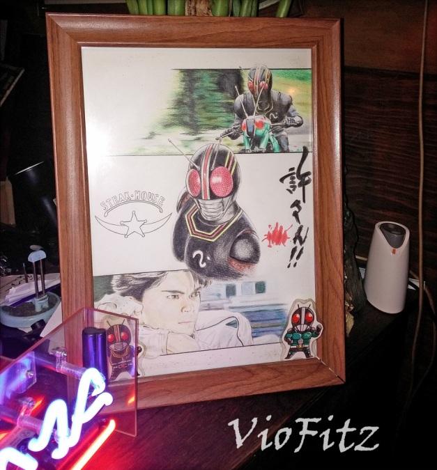 Artworks of Kotaro Minami as Kamen Rider BLACK