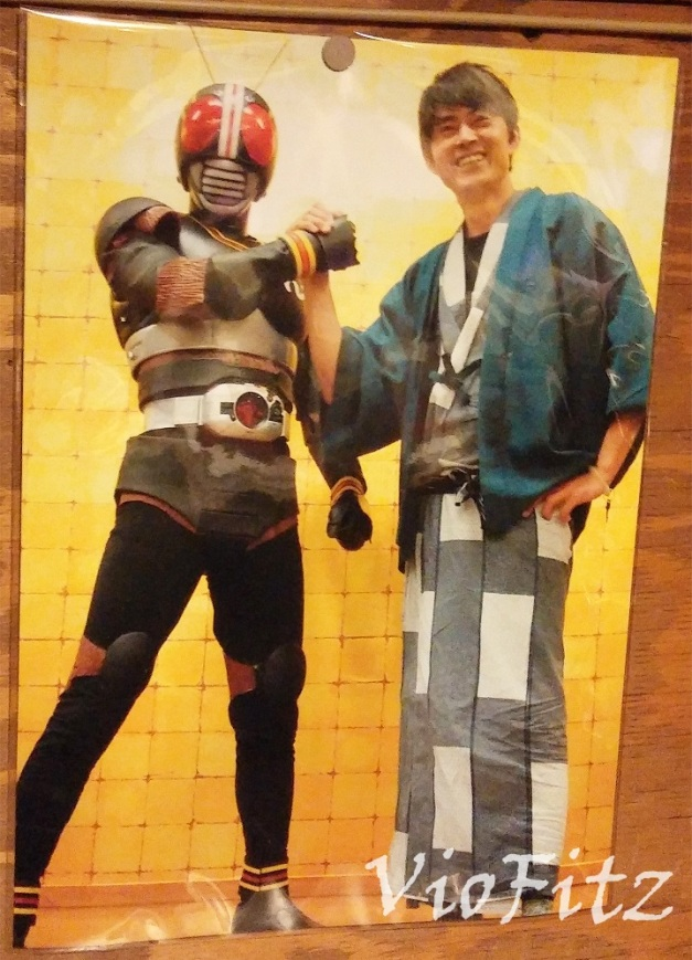 Tetsuo Kurata with Kamen Rider BLACK cosplayer