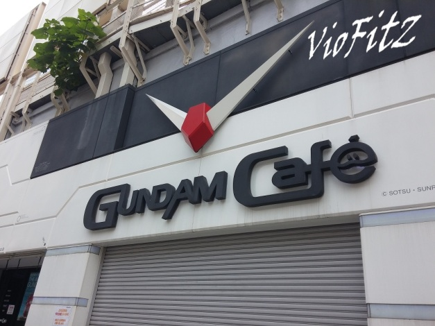 Gundam Cafe, still closed.