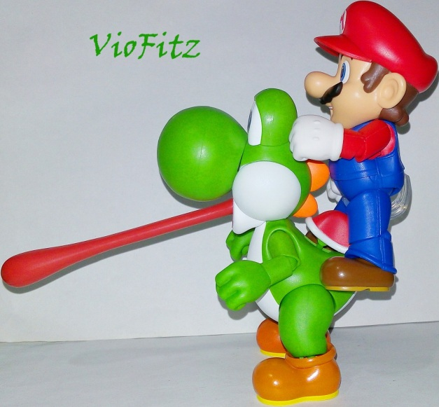 "Mario: ""Yoshi!! Take that fruit!!"""