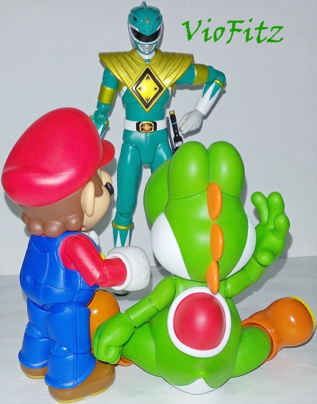 "Dragon Ranger: ""So, he's your pet, huh?! How dare you for eating me!!"" Mario & Yoshi: ""....."""