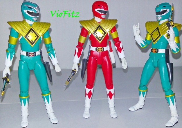 "Green Ranger: ""Fake Replicas?!"" Tyranno Ranger: ""You mean, you gave us a replicas?"" Dragon: ""Glegh... No, no no no... I mean uh... I mean...."""