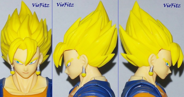 Alternate SSJ haired faceplate on front & 2 sides. Smile