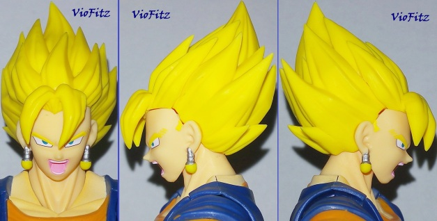 Alternate SSJ haired faceplate on front & 2 sides. Yell