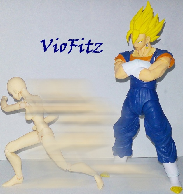 "Vegetto: ""Too slow! You called that speed? I thought you're walking."""