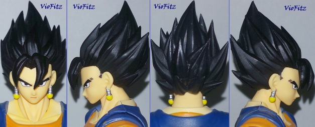Main black haired with main faceplate on front, 2 sides & back view. Standard