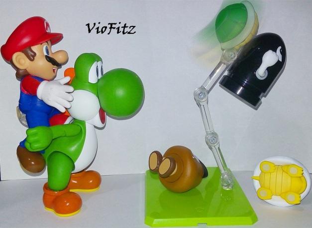 """Mario: """"Go, Yoshi!!"""" Koopa Gangs: """"GYAAAA...."""""""