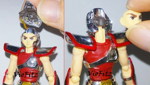 Removable Helmet & faceplate.