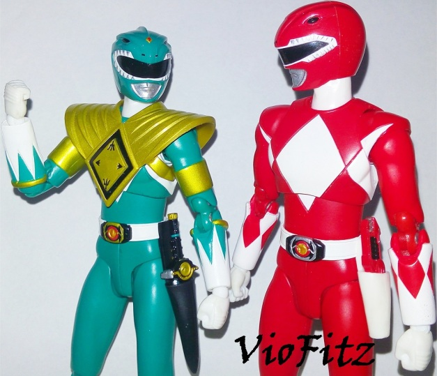 "Dragon Ranger: ""Hahaha, we're the powerful team ever!"" Tyranno Ranger: ""Yeah, big bro!"""