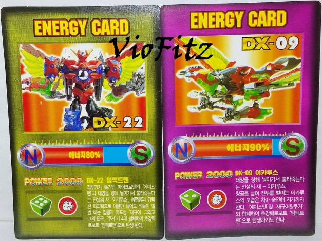 Card 04 & 05 features Combined Robotman Ace with Magne Animals & Hurricane Bird
