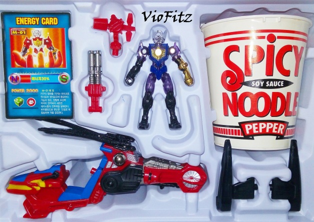 Micro Machines Spy Heli with Microman Magne Kirk contents