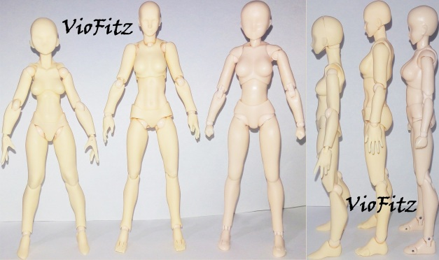 Comparison with Figma Archetype-She Old & SHF Body-Chan