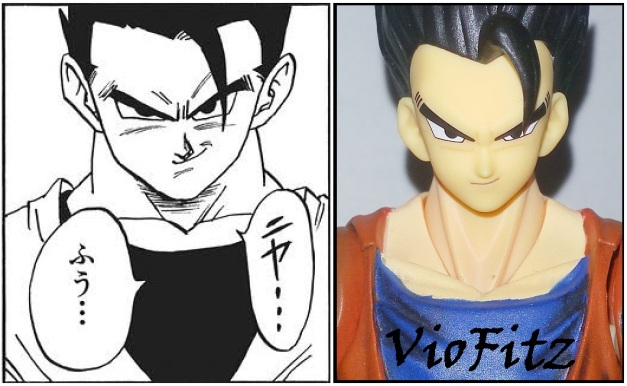 Comparison between the manga version.