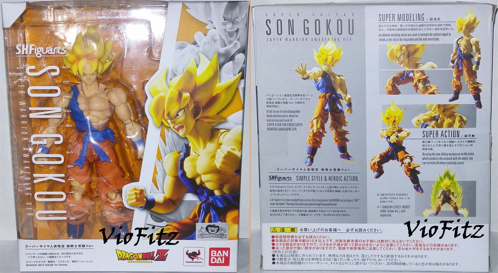 Super Saiyan Goku Super Warrior Awakening S.H Figuarts Bandai DRAGON BALL