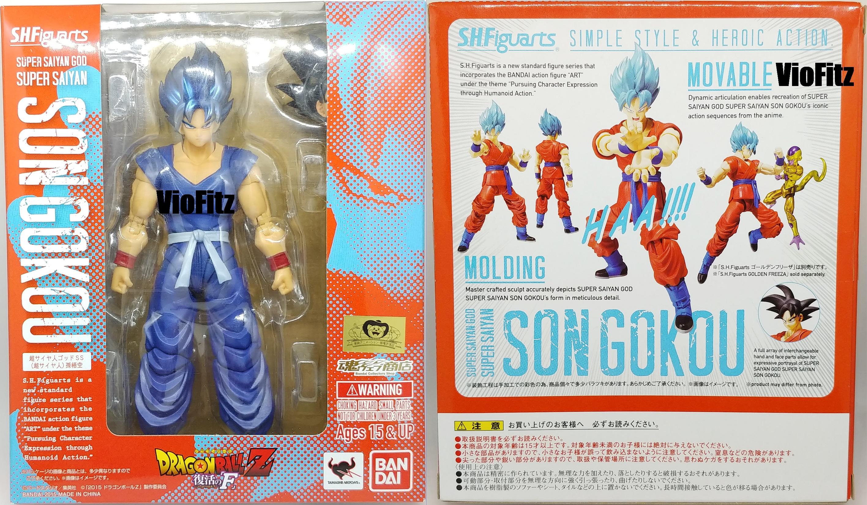 PVC Figure Dragon Ball Super SSJ God SS Goku Kaioken Blue Ver