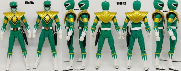 Review: S H Figuarts Unmasked Green Ranger and Unmasked White Ranger